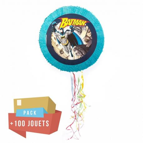 Pack pinata Batman + 100 jouets - My Party Kidz