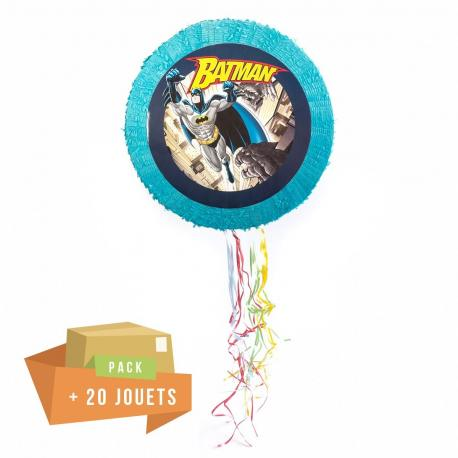 Pack pinata Batman + 20 jouets - My Party Kidz
