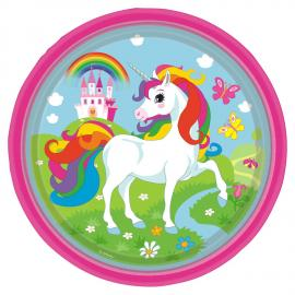 8 Assiettes en carton Licorne - 23 cm - My Party Kidz