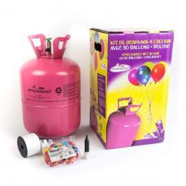 Bouteille Hélium avec 30 ballons et bolduc - My Party Kidz