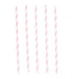 12-pailles-rose-et-blanche - MyPartyKidz