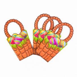 4 Paniers à Œufs Joyeuses Pâques en carton - My Party Kidz
