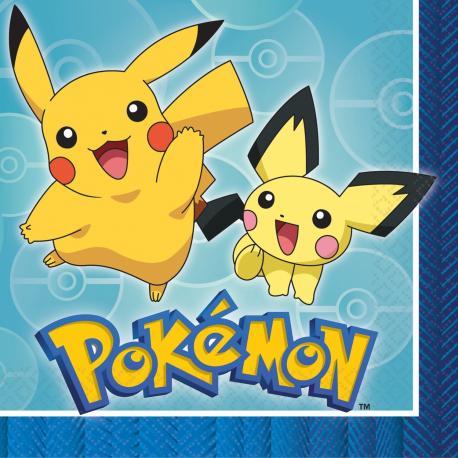 20-serviettes-en-papier-pokemon-33-x-33-cm - MyPartyKidz