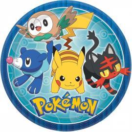 8-assiettes-en-carton-pokemon-23-cm - MyPartyKidz