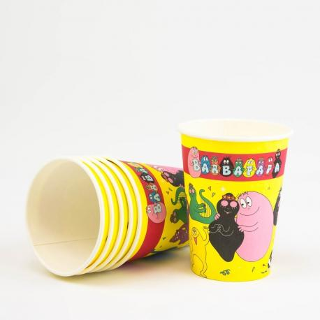 6 Gobelets en carton Barbapapa - 25 cl - My Party Kidz