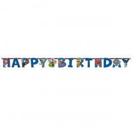 Guirlande lettres Happy Birthday Pat Patrouille 180 cm