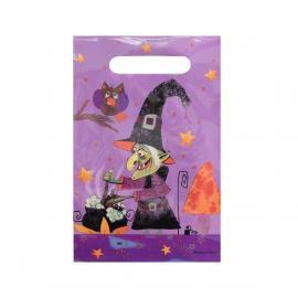 6 Sacs à Bonbons Sorcière Halloween