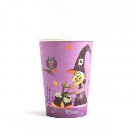 6 gobelets en carton Sorcière Halloween - 25 cl