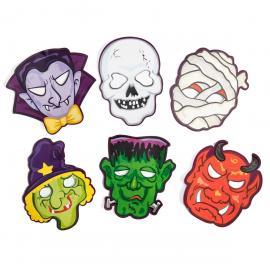 6 Masques Halloween en carton - My Party Kidz