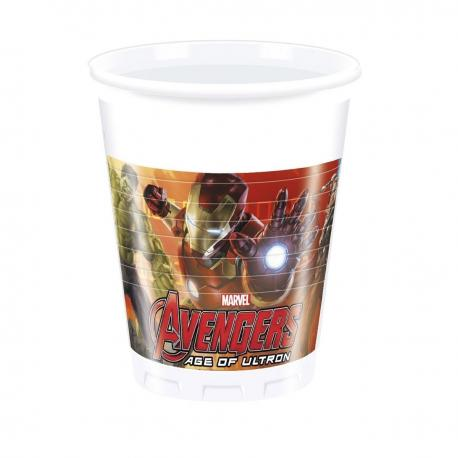 6 Gobelets en plastique Avengers - 20 cl - My Party Kidz
