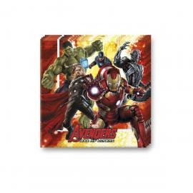 16 Serviettes en papier Avengers - 33 x 33 cm - My Party Kidz