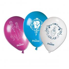8 Ballons imprimés Reine des Neiges - My Party Kidz