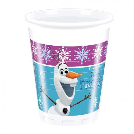 8 Gobelets en plastique Reine des Neiges - 20 cl - My Party Kidz