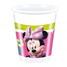 8 Gobelets en plastique Minnie - 20 cl
