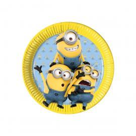 8 Assiettes en carton Les Minions - 23 cm - My Party Kidz