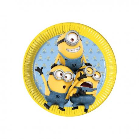 8 Assiettes en carton Les Minions - 23 cm - My Party Kidz