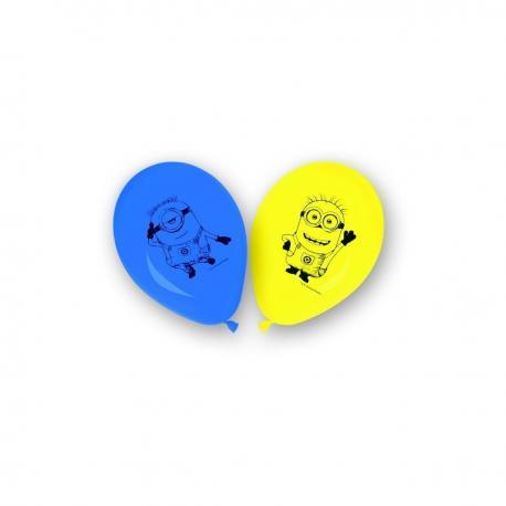 8 Ballons imprimés Les Minions - My Party Kidz