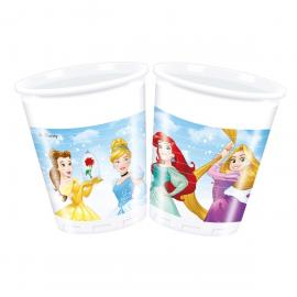 8 Gobelets en plastique Princesses Disney - 20 cl