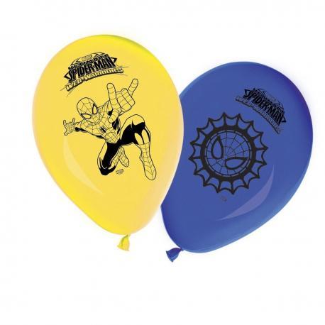 8 Ballons imprimés Spiderman Web Warriors - My Party Kidz