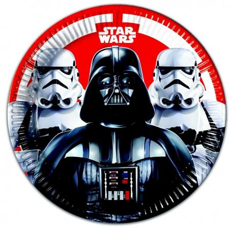 8 Assiettes en carton Star Wars Final Battle - 23 cm - My Party Kidz