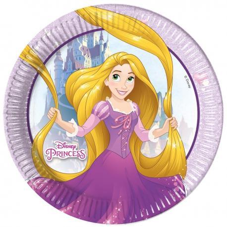 8 Assiettes en carton Princesses Disney - 23 cm - My Party Kidz