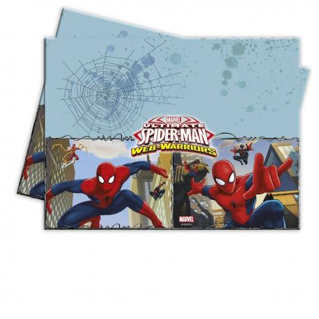 Nappe en plastique Spiderman Web Warriors - 120 x 180 cm - My Party Kidz