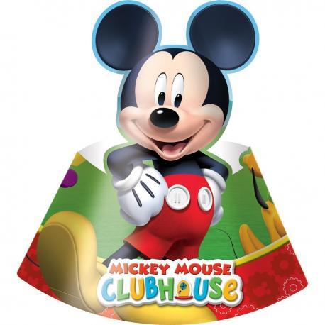 6 Chapeaux de fête Mickey - My Party Kidz