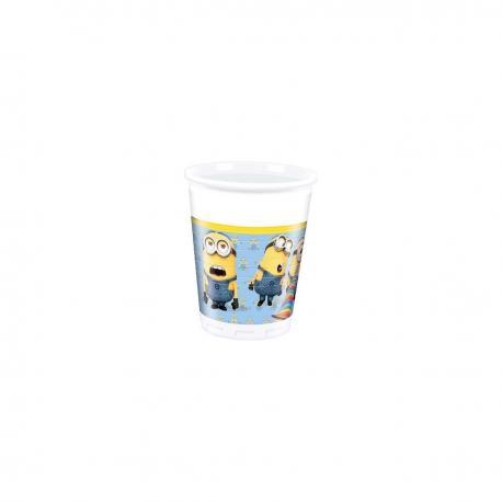 8 Gobelets en plastique Les Minions - 20 cl - My Party Kidz