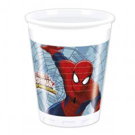 8 Gobelets en plastique Spiderman Web Warriors - 20 cl