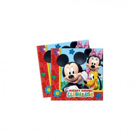 20 Serviettes en papier Mickey - 33 x 33 cm - My Party Kidz