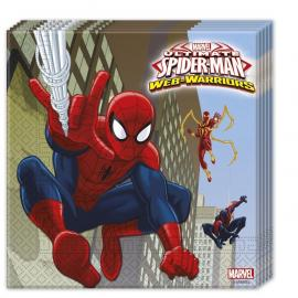 20 Serviettes en papier Spiderman Web Warriors - 33 x 33 cm - My Party Kidz
