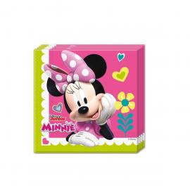 20 Serviettes en papier Minnie - 33 x 33 cm - My Party Kidz
