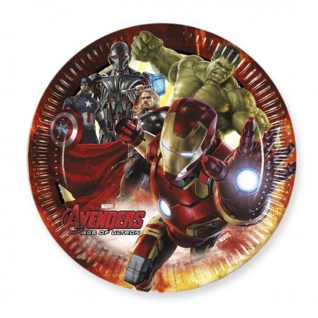 6 Assiettes en carton Avengers - 23 cm - My Party Kidz