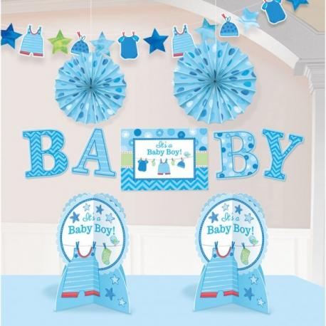 kit-10-pieces-decoration-bleu - MyPartyKidz
