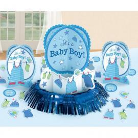 Kit Décorations de table Baby Boy - bleu