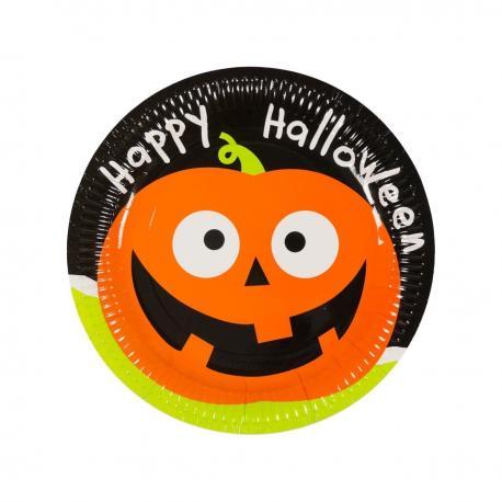6 Assiettes en carton Halloween - 23 cm - My Party Kidz