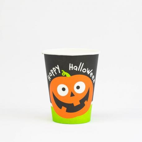 6 Gobelets en carton Halloween - 25 cl - My Party Kidz