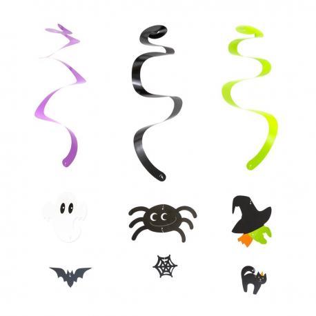 3 Décorations Spirales Halloween - 50 cm - My Party Kidz