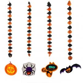 4 Décorations mobiles Halloween - 76 cm - My Party Kidz