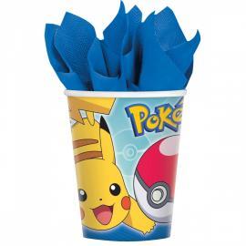 8-gobelets-en-carton-pokemon-25-cl - MyPartyKidz
