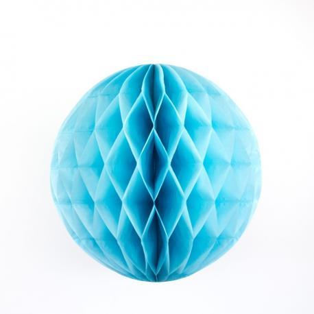 Boule papier alvéolée bleu turquoise - diam 30 cm - My Party Kidz