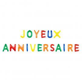 Lettres gonflables Joyeux Anniversaire - 35 cm