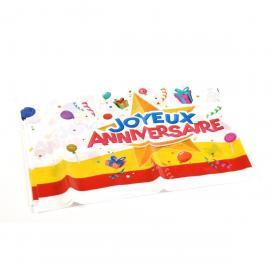 Nappe en plastique Joyeux Anniversaire - 130 x 180 cm - My Party Kidz