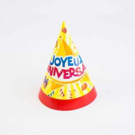 6 Chapeaux de fête Joyeux Anniversaire - My Party Kidz