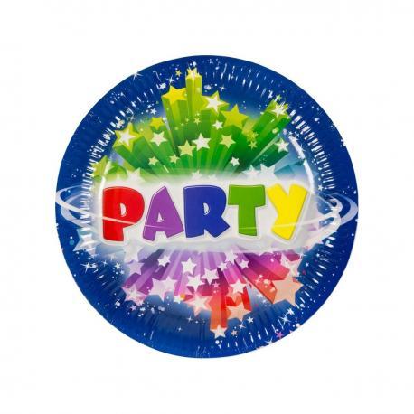 6 Assiettes en carton Party - 23 cm - My Party Kidz
