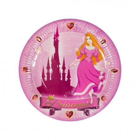 6 Assiettes en carton Princesse - 23 cm - My Party Kidz