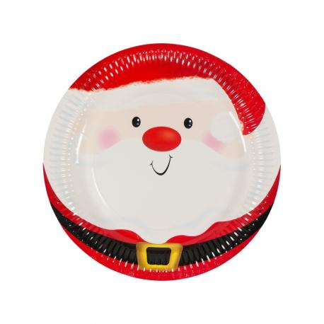 6 assiettes en carton Ho-Ho 23 cm - My Party Kidz