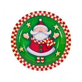 6 assiettes en carton Yes Santa 23 cm - My Party Kidz
