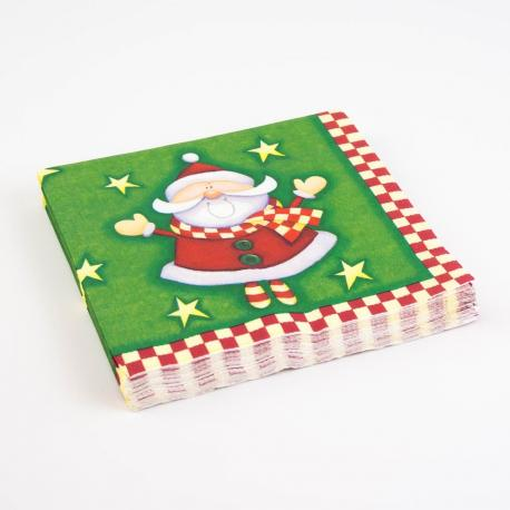20 serviettes en papier Yes Santa - 33 x 33 cm - My Party Kidz