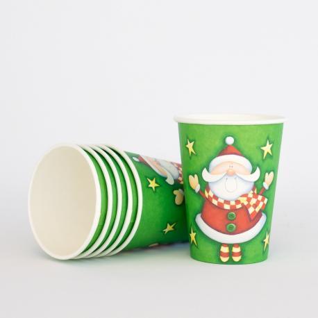 6 gobelets en carton Yes Santa - My Party Kidz